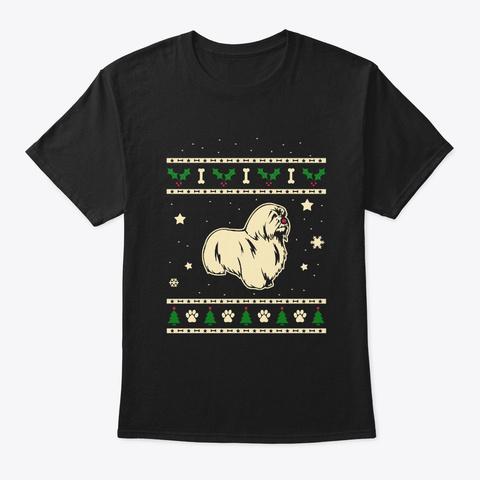 Christmas Coton De Tulears Gift Black T-Shirt Front
