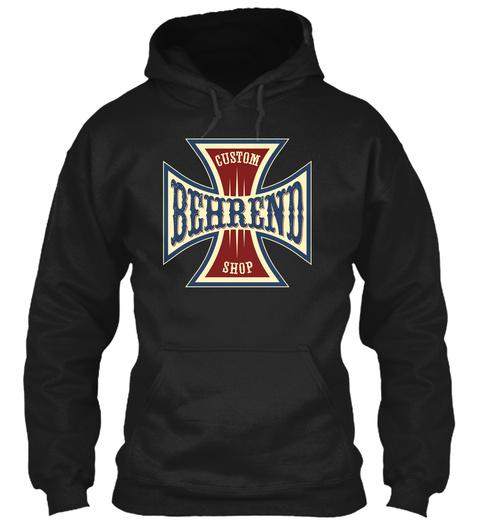 Behrend Custom Shop Black T-Shirt Front