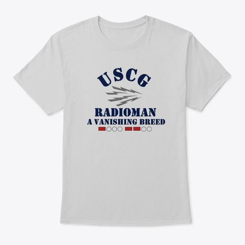 Radioman A Vanishing Breed T Shirt Light Steel T-Shirt Front