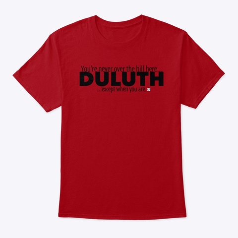 Duluth   Over The Hill Deep Red T-Shirt Front
