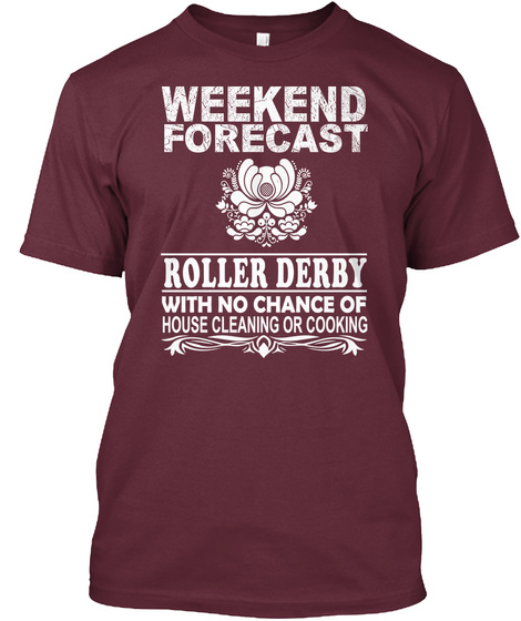 Roller Derby Maroon T-Shirt Front