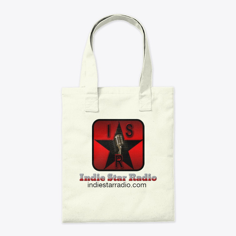 Official Indie Star Radio Tote Bag Natural T-Shirt Back