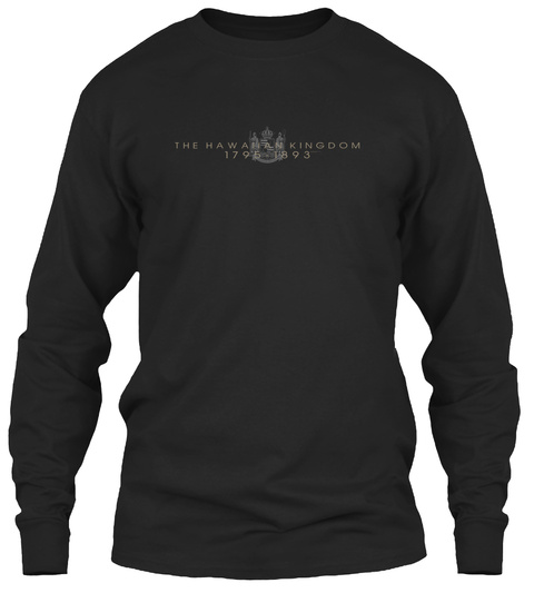 The Hawahan Kingdom Black Long Sleeve T-Shirt Front