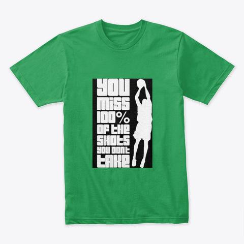 Basketball Art Design Kelly Green T-Shirt Front
