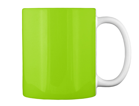 Na Lime Green Mug Back