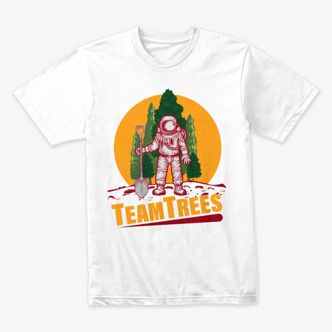 Team Trees | Mr Beast Team Tree Shirt White T-Shirt Front