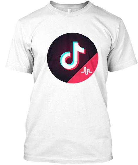 Tiktok Logo Including Musically White T-Shirt Front
