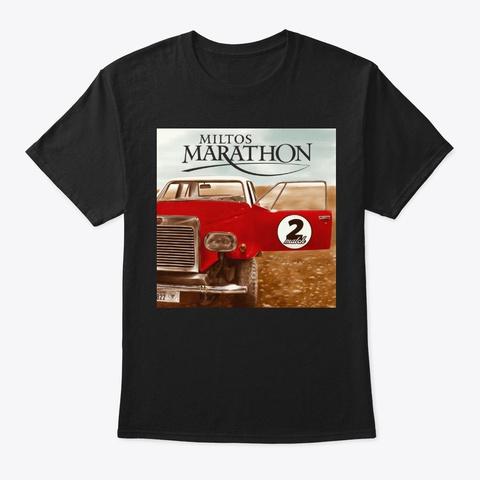 "Miltos Marathon ""Two Match"" Accessories Black T-Shirt Front"