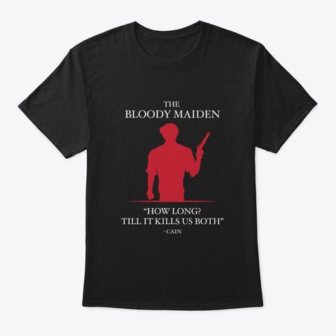 How Long? (Black) Black T-Shirt Front