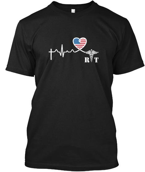 Rt Black T-Shirt Front