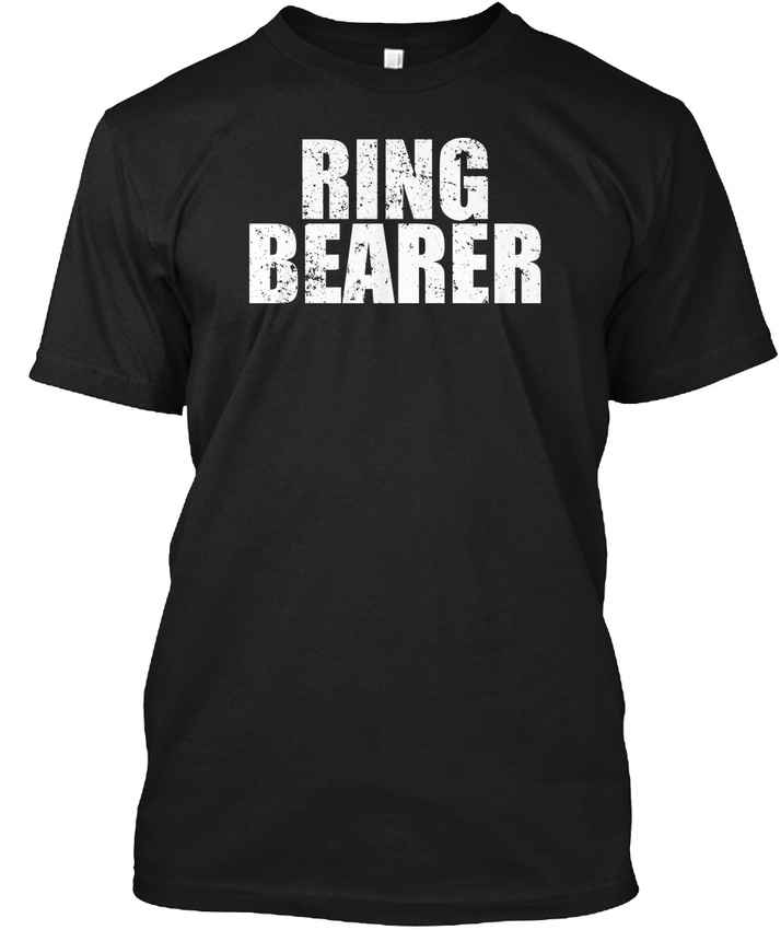 Ring Bearer Funny Wedding Party Hanes Tagless Tee T-Shirt