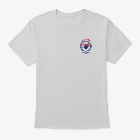 Love Thy Country   Usa   Patriotic  Light Steel T-Shirt Front