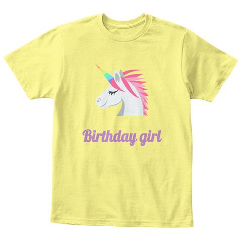 Birthday Girl Lemon Yellow T Shirt Front