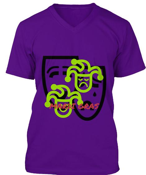 Mardi Gras Team Purple T-Shirt Front