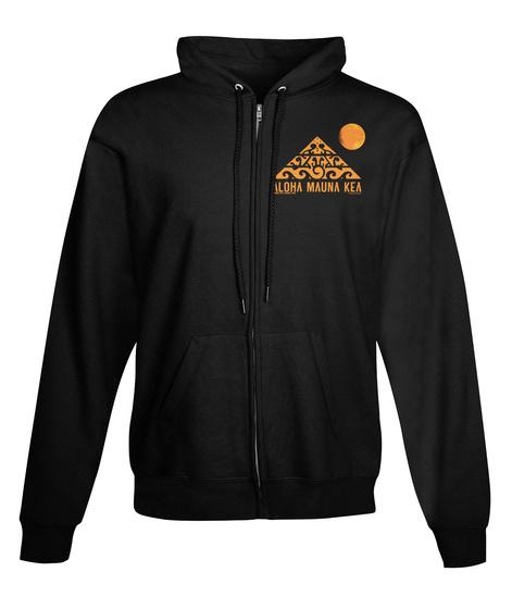 #We Are Mauna Kea Official Mkah Hoodies Black T-Shirt Front