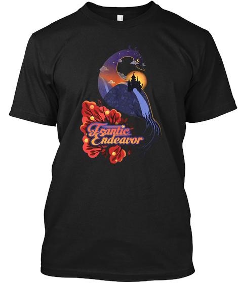 Frantic Endeavor   Peacock Castle Black T-Shirt Front