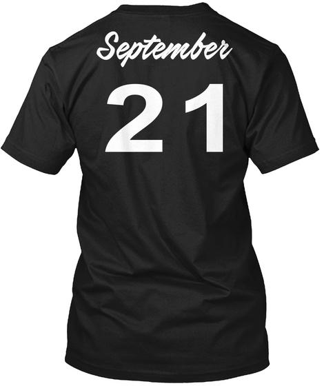 September 21   Virgo Black T-Shirt Back
