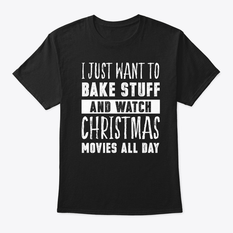 Funny Christmas Bakery Graphic  Black T-Shirt Front