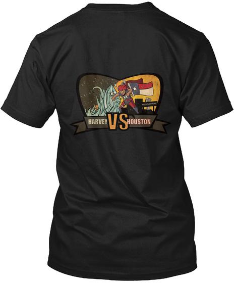 Help Houston Beat Harvey Black T-Shirt Back