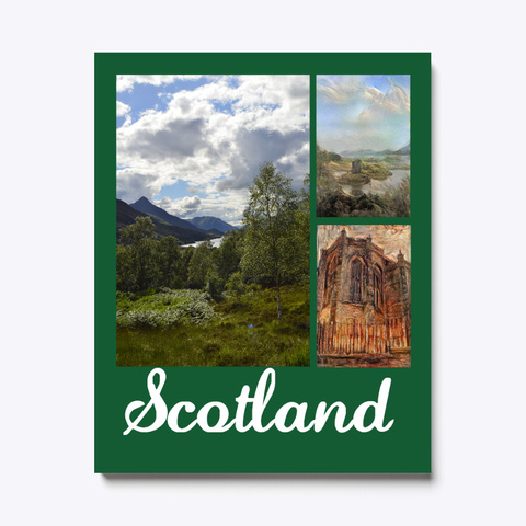 Scotland Canvas Dark Green T-Shirt Front