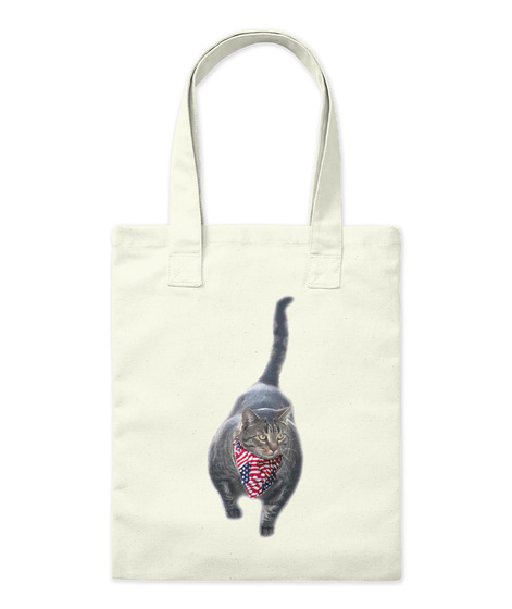 Buff Cat American Deluxe Natural Tote Bag Front