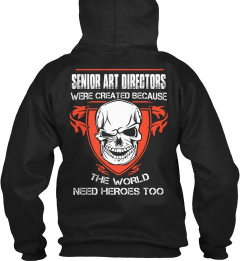 Senior Art Directors Black T-Shirt Back