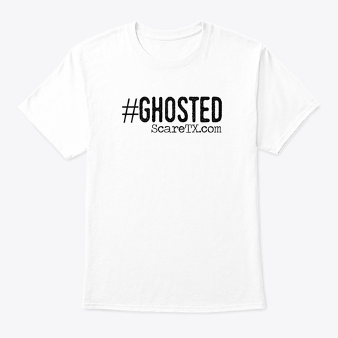 Ghosted Logo Tee White T-Shirt Front