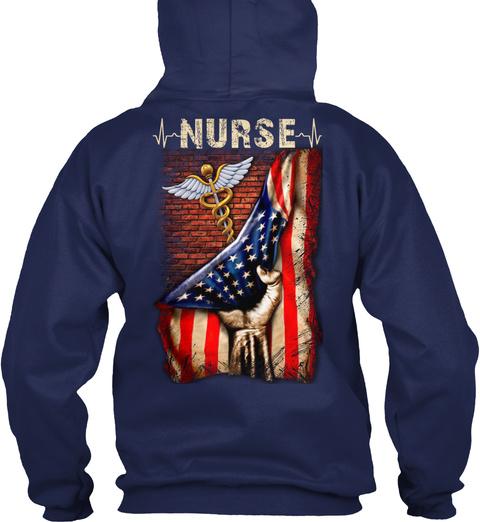 Proud Nurse Navy T-Shirt Back