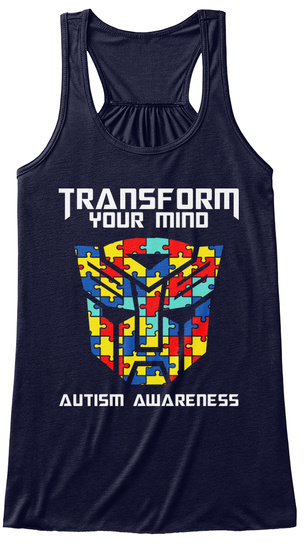 Transform Your Mind Autism Awareness Midnight T-Shirt Front