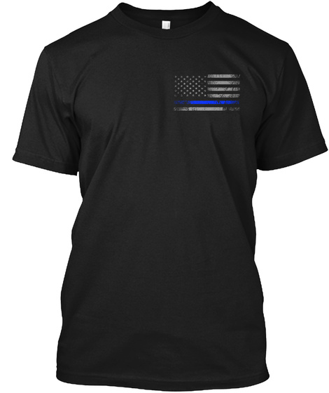 Police  Blessed Are Peacekeepers (Mp) Black T-Shirt Front