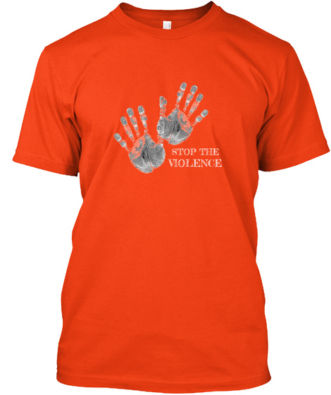 Stop The Violence Deep Orange  Kaos Front