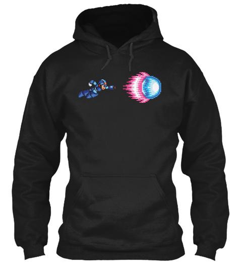 Dash Shot Mega Man X Black T-Shirt Front