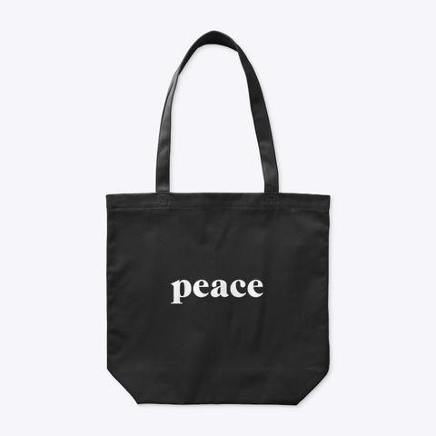 Organic Tote Bag: Peace Black Camiseta Front