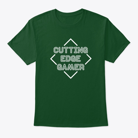 Cutting Edge Gamer   Psych Deep Forest T-Shirt Front