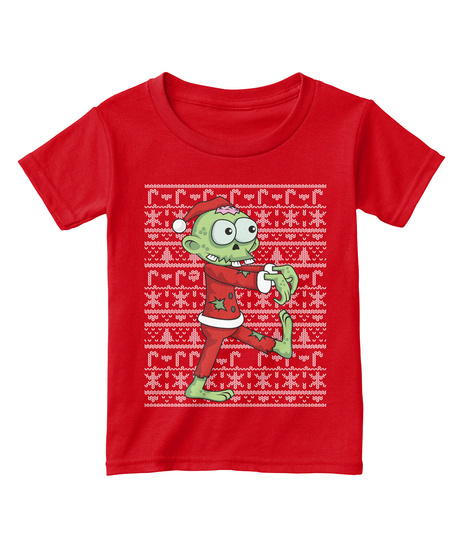 Zombie Christmas Sweater.Zombie Christmas Ugly Sweater Toddler
