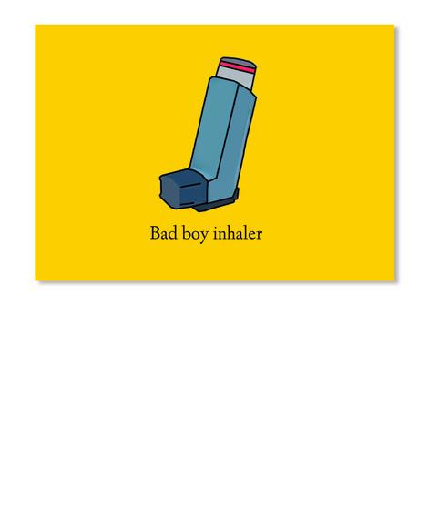 Bad Boy Inhaler Lemon Yellow T-Shirt Front
