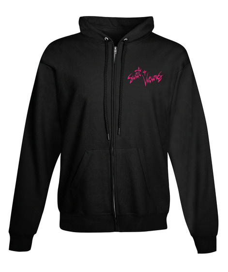 Sweet And Vicious Unisex Zip Hoodie Black Sweatshirt Front