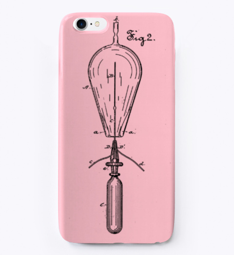 Edison Bulb Colors Phone. Pink T-Shirt Front