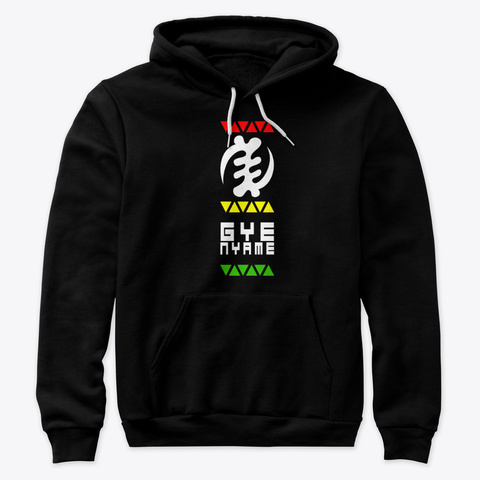 Gye Nyame   Adinkra Black T-Shirt Front