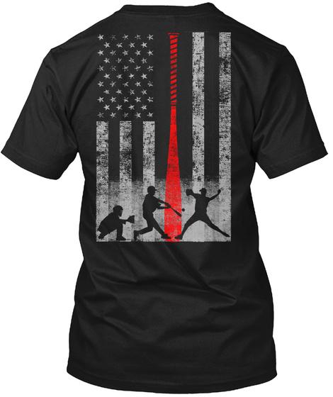 Limited Edition Baseball Flag T-Shirt Back