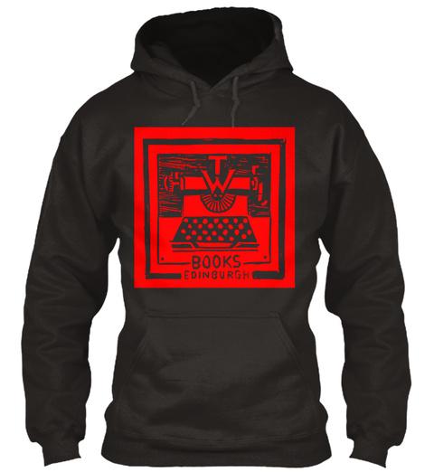Typewronger Books Clothing! Jet Black T-Shirt Front