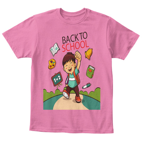 Back To School Awesome T Shirt True Pink  T-Shirt Front