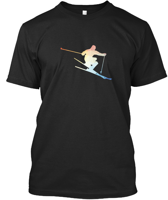 Skifahren-2-T-shirt-Elegant-S-5XL