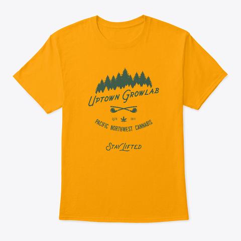 Ugl Hipster Cannabis Pnw Shirt Gold T-Shirt Front