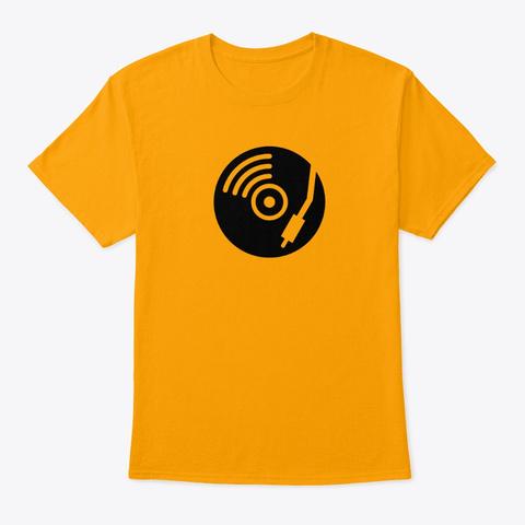 Dj Alert Gold T-Shirt Front