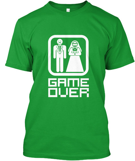 Game Over Kelly Green T-Shirt Front