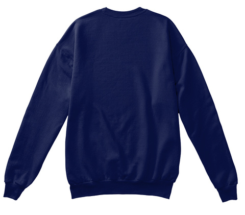 Sweaterify   Sad And Offline Navy  Sweatshirt Back