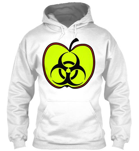 Biohazard Toxic Poisoned Apple Pesticida White T-Shirt Front