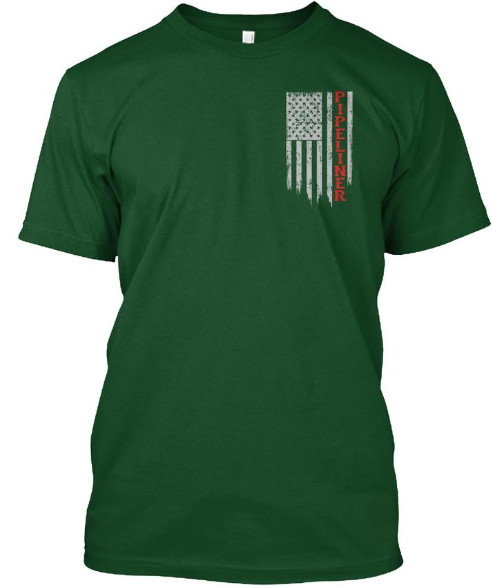 Pipeliner-Us-Flag-Hanes-Tagless-Tee-T-Shirt thumbnail 6