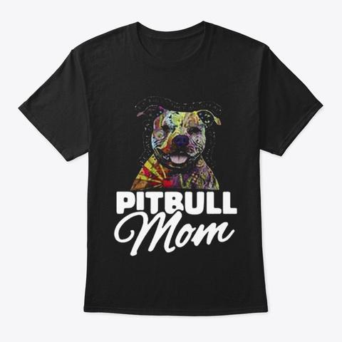 Pitbull   Dog Black T-Shirt Front